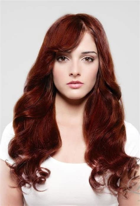 dark red hair color trends  haircuts