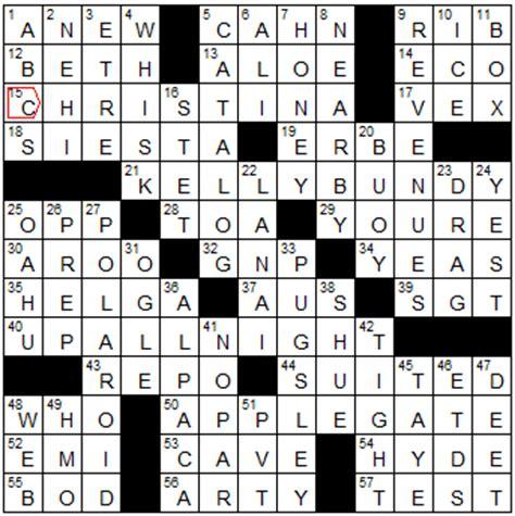 actress jessica crossword puzzle sunday 3 4 12