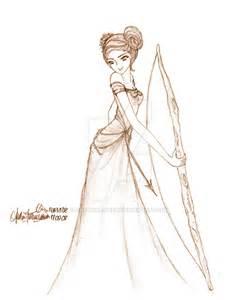 Warrior Princess Dress Drawing