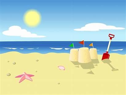 Cartoon Beach Background Clip Summer Vacation Loading