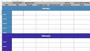 2017 excel sermon calendar template ministry passtm With preaching calendar template