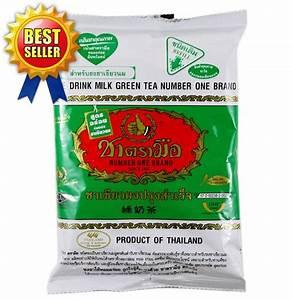 7 05oz Thai Milk Green Tea Mix Number One Brand Tasteful Hot  Cold Drink Halal