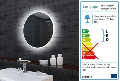 badspiegel rund mit beleuchtung www aqua de badezimmerspiegel badspiegel wandspiegel led beleuchtung rund 60cm mle6602