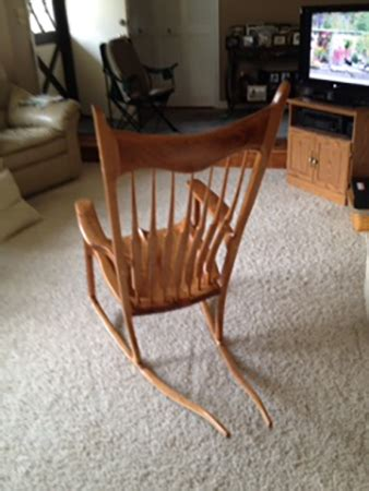 maloof style rocking chair woodworking blog