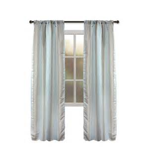 shop allen roth northfield 95 in aqua polyester rod pocket single curtain panel at lowes
