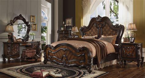Bedroom Versailles by Versailles Panel Bedroom Set Cherry Oak Acme Furniture