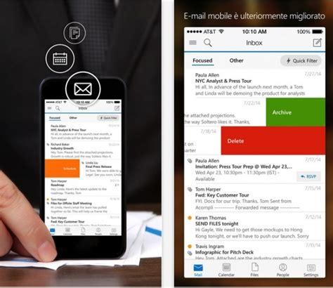 outlook on iphone microsoft outlook disponibile su app iphone italia