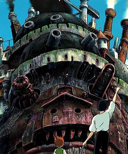 Ghibli Studio Castle Animated Gifs 4k Moving
