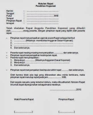 Contoh Format Risalah Rapat by Contoh Notulen Rapat Sekolah Pkbm Sekar Arum Sekolah