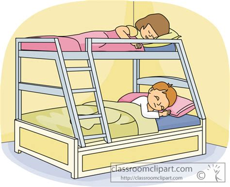 kid going to bed clipart children clipart kids sleeping in a bunk bed classroom