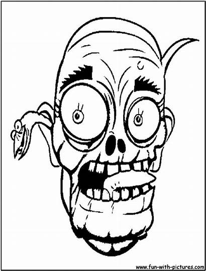 Coloring Scary Pages Zombie Halloween Zombies Mask