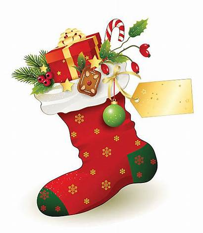 Stocking Christmas Nikolaus Gifts Filled Vector Illustrations