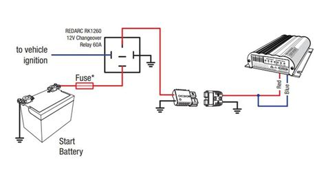 Rk Wiring Diagram by 60 Relay Kit For Redarc In Vehicle Bcdc Battery