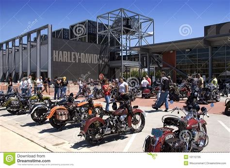Wisconsin Harley Davidson by Harley Davidson Museum In Milwaukee Wi Editorial Image