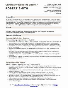 education objectives for resume community relations director resume samples qwikresume