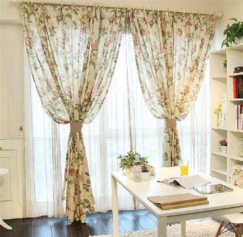 country style l shades rustic country style linen curtains floral cafe window