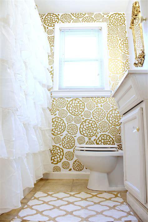 gold glam bathroom makeover