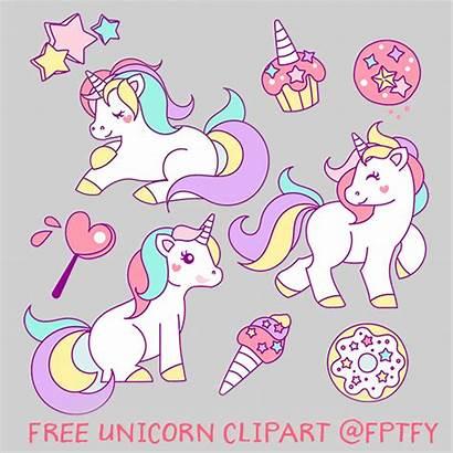 Unicorn Clip Clipart Drawn Unicornios Birthday Unicornio