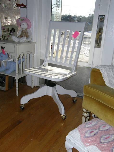 shabby chic desk chair shabby chic white desk chair vintage by vintagechicfurniture
