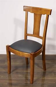 Chaise En Bois Massif : chaise lou en merisier massif de style louis philippe meuble en merisier massif ~ Teatrodelosmanantiales.com Idées de Décoration