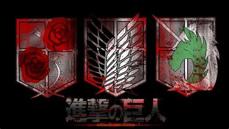 attack  titan logo wallpapers wallpaper cave