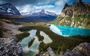Beautiful, Valley, Scenery, Mountains, Forest, Trees, Lake