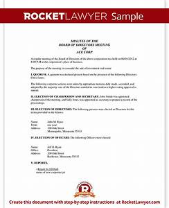 corporate minutes corporate minutes template with sample With corporation annual meeting minutes template