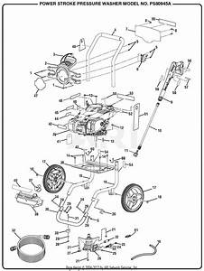 Homelite Ps80945a 3100 Psi Powerstroke Pressure Washer Parts Diagram For General Assembly