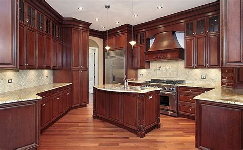 classic cherry kitchen cabinets 29 custom solid wood kitchen cabinets designing idea 5427