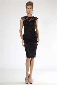 black lace cocktail dress dressed up girl With black cocktail dress for wedding