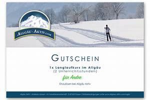 Gutschein Skifahren Vorlage : gutschein langlaufkurs allg u aktiv ~ Markanthonyermac.com Haus und Dekorationen
