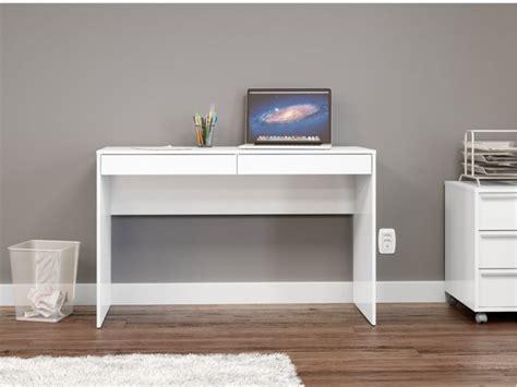 bureau vente bureau lawson avec rangements 2 tiroirs coloris blanc