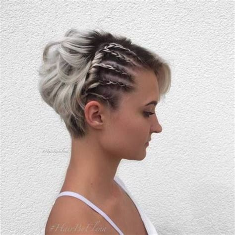 Prom Hairstyles For Pixie Cuts by Best 25 Pixie Braids Ideas On Pixie Updo