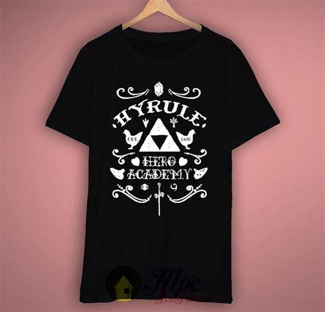 Legend Of Zelda Hyrule Academy Tshirt  Mpcteehouse 80s Tees