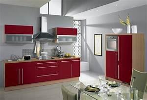 cuisine rouge et grise qui incarne lidee dune vie moderne With meuble de cuisine en bois rouge 2 idee couleur cuisine la cuisine rouge et grise