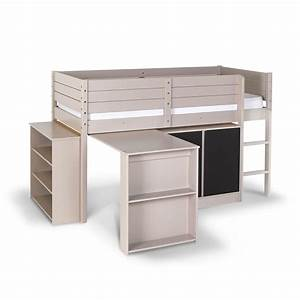 Lit Mi Hauteur Avec Rangement : lit mi hauteur metal maison design ~ Premium-room.com Idées de Décoration