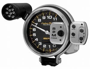 Autometer 6836 Carbon Fiber Pro Stock Tachometer  5 In