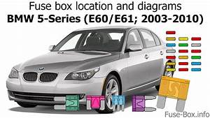 Fuse Box Location And Diagrams  Bmw 5 E61