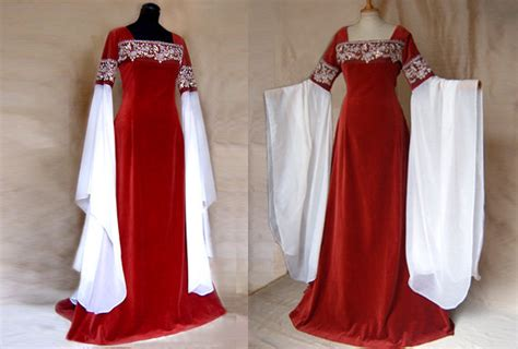 Wedding Dress Elf Dress Red Rose Elf Lotr Arwen