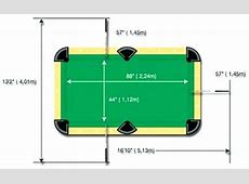 Snooker Table Dimensions