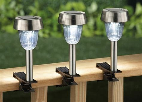 solar light for deck rail set of 3 summer