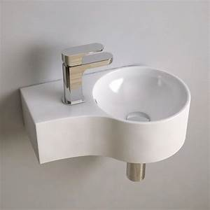 Toilette Gain De Place : lave main gain de place 43x27 cm c ramique atsuo wc bathroom bathroom inspo et downstairs ~ Melissatoandfro.com Idées de Décoration