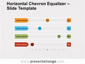 Horizontal Chevron Equalizer For Powerpoint And Google Slides