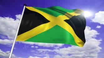 Jamaican Flag Waving in Jamaica
