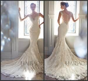 selling wedding dress best selling 2015 vintage wedding dresses v neck sheer straps sequins mermaid bridal gowns