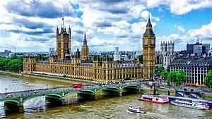 Palace of Westminster and Big Ben, bridge, London