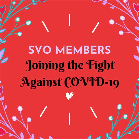 svo members joining  fight  covid