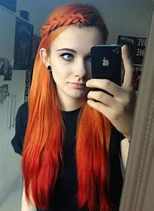 589 best Fire Red Orange Ombre Hair images on Pinterest ...