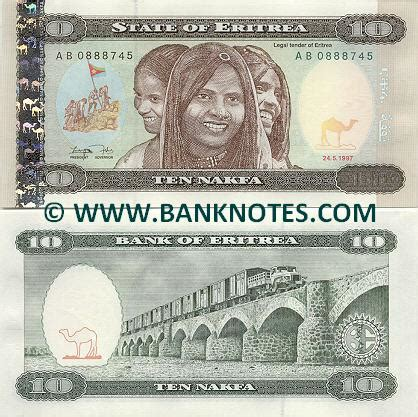 Eritrea 10 Nakfa 1997 - Eritrean Currency Bank Notes ...