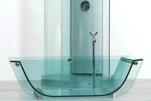 Glass Bathtub by Bath Products Prizma Studio